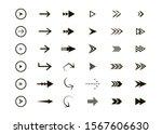 set of black vector arrows.... | Shutterstock .eps vector #1567606630