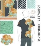 men's floral fashion patterns.... | Shutterstock .eps vector #156760904