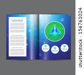 christmas booklet  template | Shutterstock .eps vector #156761024