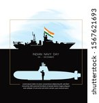 indian navy day poster  banner. ... | Shutterstock .eps vector #1567621693