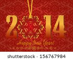 2014 happy new year greeting... | Shutterstock .eps vector #156767984