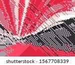 digital effects. vibrant... | Shutterstock . vector #1567708339