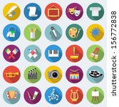 set of art icons in flat design ... | Shutterstock .eps vector #156772838