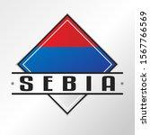 serbia flag emblema. vector... | Shutterstock .eps vector #1567766569