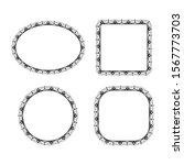 floral ornament frame. border... | Shutterstock .eps vector #1567773703