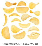 potato chips close up isolated... | Shutterstock . vector #156779213