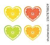 Orange Orange Heart Fresh Bright