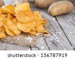 Heap Of Paprika Potato Chips On ...