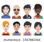 people avatars. vector women ... | Shutterstock .eps vector #1567882366