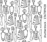 kitchen tools   vector. pattern | Shutterstock .eps vector #156789428