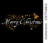 a picture of merry christmas... | Shutterstock . vector #1567918813