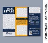 real estate tri fold brochure... | Shutterstock .eps vector #1567926889