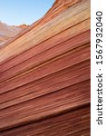 Small photo of Striped sandstone texture of Northern Arizona on the Kaibab Plateau. Nearby is the infamous Wave formation of North Coyote Buttes.