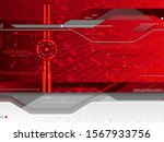 red futuristic background with...   Shutterstock .eps vector #1567933756