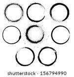 grunge circle frames . vector... | Shutterstock .eps vector #156794990