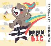 Cute Teddy Bear Wearing...