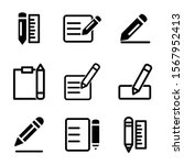 pencil icon isolated sign...