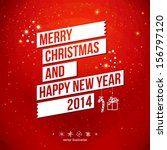 merry christmas and happy new... | Shutterstock .eps vector #156797120