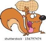 Crazy Squirrel Cartoon Mascot...