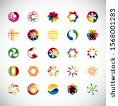 abstract circle icon set.... | Shutterstock .eps vector #1568001283