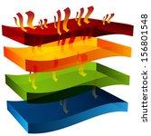 an image of a 3d heat barrier... | Shutterstock .eps vector #156801548