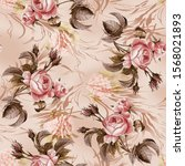 seamless floral pattern with... | Shutterstock . vector #1568021893