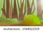 camping in the forest... | Shutterstock .eps vector #1568022529
