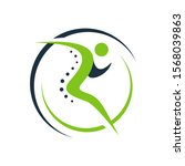 chiropractic physiotherapy logo ... | Shutterstock .eps vector #1568039863