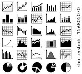 set of diagrams and graphs... | Shutterstock .eps vector #156805070