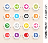 16 arrow sign icon set 03 ...