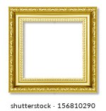 gold frame on the white... | Shutterstock . vector #156810290