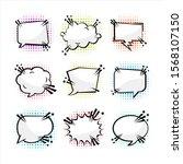 baloon text blank halftone...   Shutterstock .eps vector #1568107150