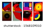2020 vector geometric and... | Shutterstock .eps vector #1568109010