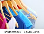 clothes on circle hanger on... | Shutterstock . vector #156812846