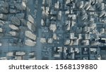abstract modern white city on... | Shutterstock . vector #1568139880