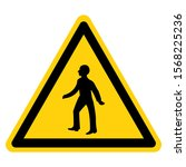 warning staff only symbol sign  ...   Shutterstock .eps vector #1568225236