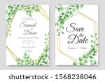 wedding invitation card... | Shutterstock .eps vector #1568238046