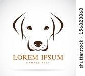 Stock vector  vector image of an dog labrador on white background vector dog labrador head for your design 156823868