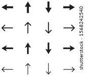 arrow simple vector icon set