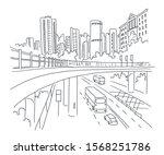 city sketch. building...   Shutterstock .eps vector #1568251786