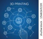 3d printing concept  blue...