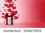 valentine's day concept... | Shutterstock . vector #1568275033