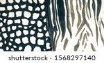 aged animal mix print. grey... | Shutterstock . vector #1568297140