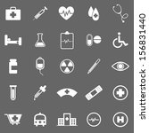 medical icons on gray... | Shutterstock .eps vector #156831440