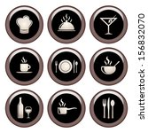 food and restaurant icons... | Shutterstock .eps vector #156832070