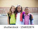 diverse children going to... | Shutterstock . vector #156832874