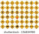 warning traffic signs vector set | Shutterstock .eps vector #156834980