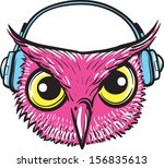 vector illustration of owl with ... | Shutterstock .eps vector #156835613