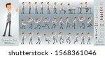 cartoon flat cute funny... | Shutterstock .eps vector #1568361046