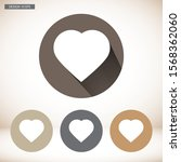 vector icon heart 10 epsvector... | Shutterstock .eps vector #1568362060